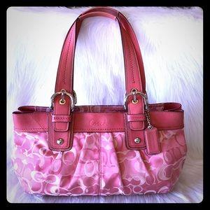 COACH SoHo pleated optic signature pink ToTe Bag